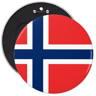 Norway, flag 6 cm round badge