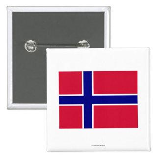 Norway Flag 15 Cm Square Badge