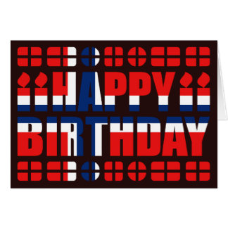 Norway Flag Birthday Card