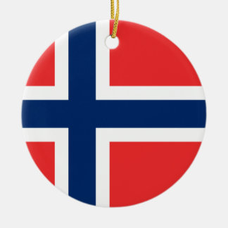 Norway Flag Christmas Ornament