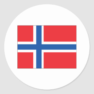 Norway Flag Classic Round Sticker