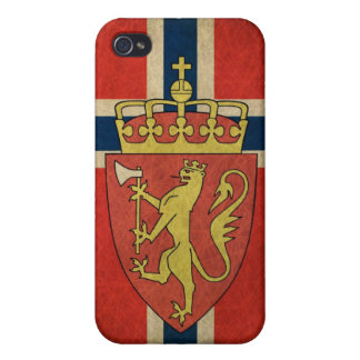 Norway Flag Coat of Arms Case For The iPhone 4