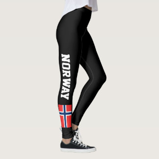 Norway flag custom leggings for sport fitness gym
