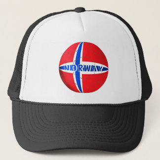 Norway flag football soccer hat