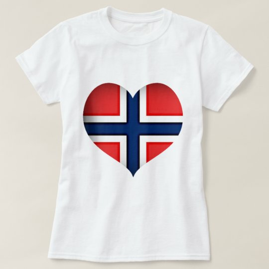 Norway Flag Heart T-Shirt