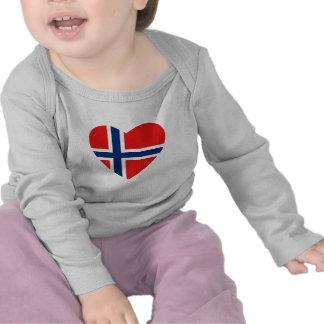 Norway Flag Heart T-Shirt