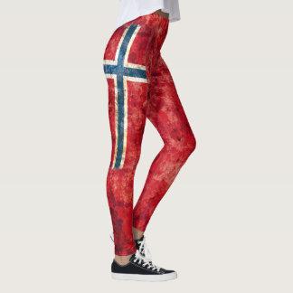 Norway Flag Leggings