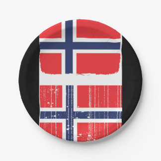Norway Flag Paper Plates