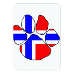 norway-flag paw.png 13 cm x 18 cm invitation card