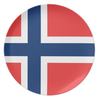 Norway Flag Plate