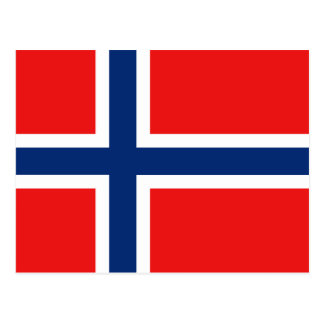 Norway Flag Postcard
