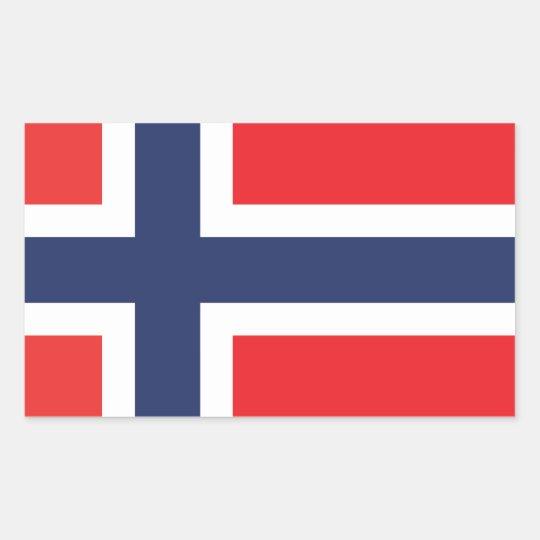 NORWAY FLAG RECTANGULAR STICKER