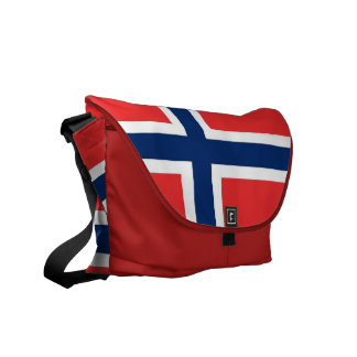 Norway Flag Rickshaw Messenger Bag