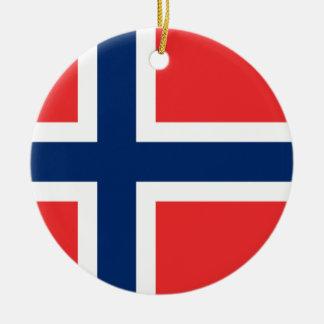 Norway Flag Round Ceramic Decoration