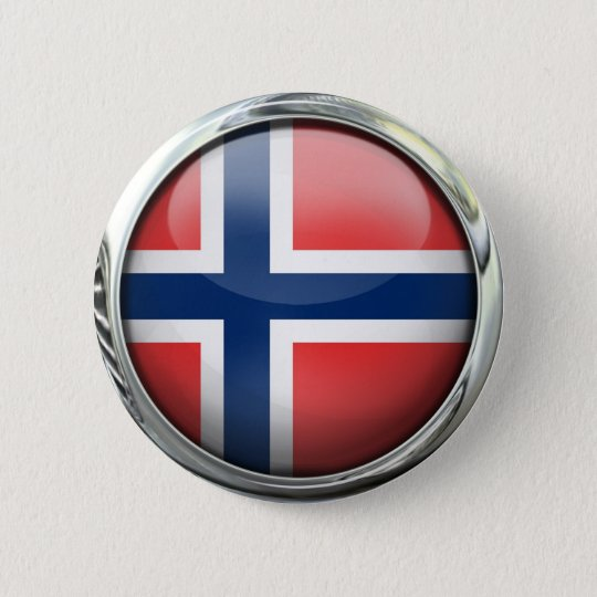 Norway Flag Round Glass Ball 6 Cm Round