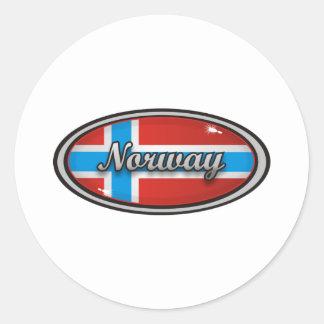 Norway Flag Round Sticker