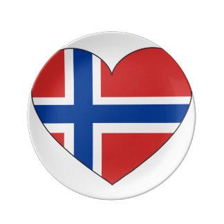 Norway Flag Simple Plate