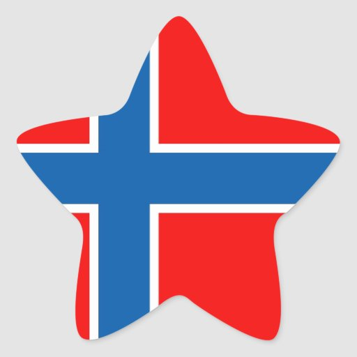 Norway flag star stickers