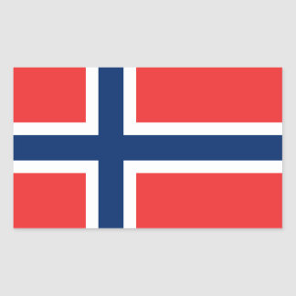 Norway Flag Stickers* Rectangular Sticker