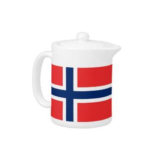 Norway Flag Teapot