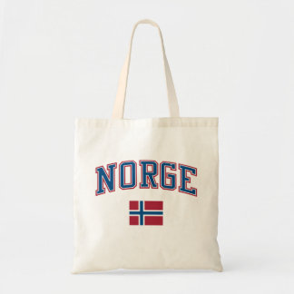 Norway + Flag Tote Bag