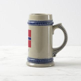 Norway Flag with Name in Norwegian Coffee Mug