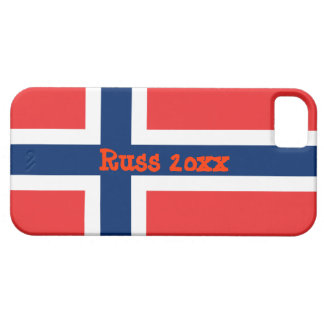 Norway flag with text Russ 20xx iPhone 5 Case