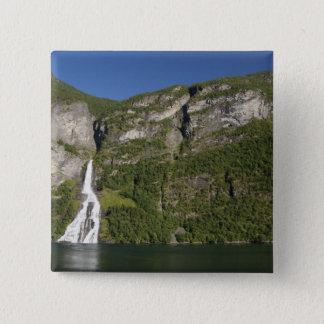 Norway, Geirangerfjord (UNESCO), Geiranger. 15 Cm Square Badge