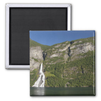 Norway, Geirangerfjord (UNESCO), Geiranger. Square Magnet