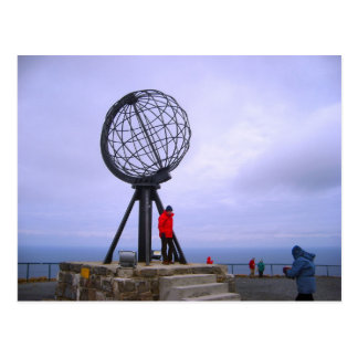 Norway, Globe at the North Cape Postcard