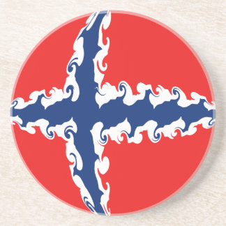 Norway Gnarly Flag Drink Coaster