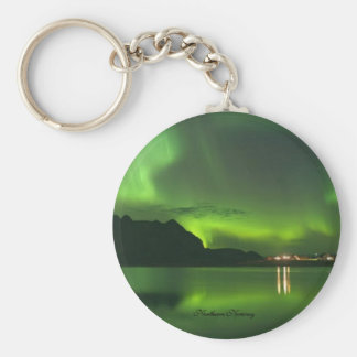 Norway Green Lights Keychain