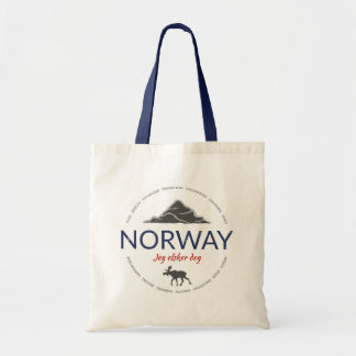 Norway grunge button tote bag