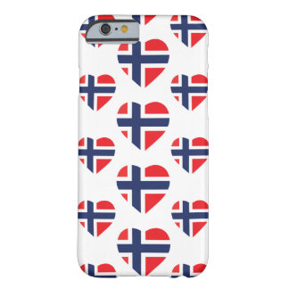 NORWAY HEART SHAPE FLAG BARELY THERE iPhone 6 CASE