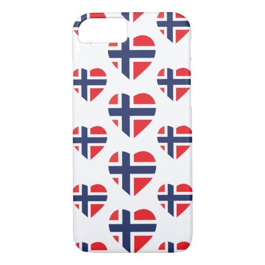 NORWAY HEART SHAPE FLAG iPhone 8/7 CASE