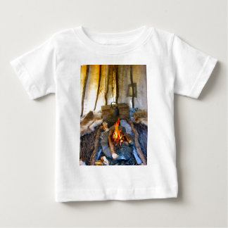 Norway, inside a Sami tent, Lapland Baby T-Shirt