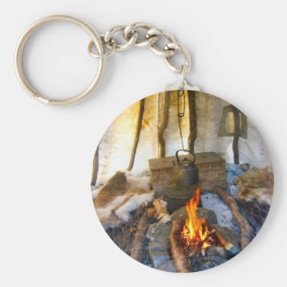 Norway inside a Sami tent Lapland Keychains