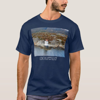 Norway, Lighthouse at the entrance to a fjord T-Shirt