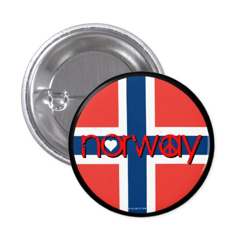 Norway Love Peace Button 1