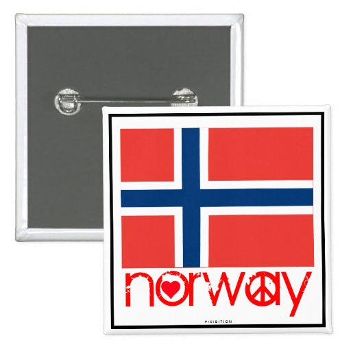 Norway Love Peace Button 2