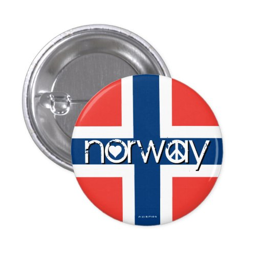 Norway Love Peace Button 5