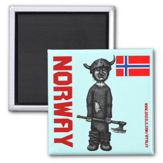 Norway magnet with funny viking