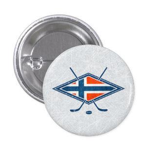 Norway Norge Ice Hockey Badge Hockey Button