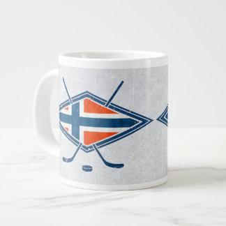 Norway Norge Ice Hockey Logo Mug 20 Oz Large Ceramic Coffee Mug