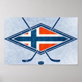 Norway Norge Ice Hockey Logo Poster