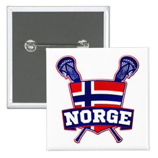 Norway Norsk Lacrosse Button