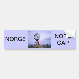 Norway, North Cape, globe symbol Bumper Sticker