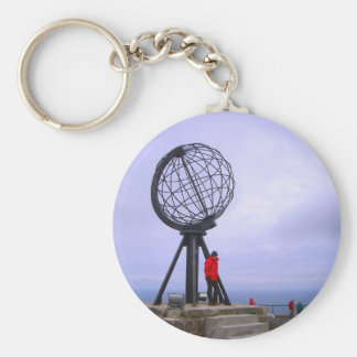 Norway, North Cape, globe symbol Key Ring