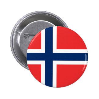 Norway - Norwegian Flag 6 Cm Round Badge