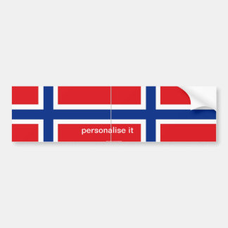 Norway norwegian flag bumper sticker